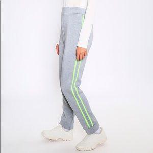 NWT neon stripe jogger